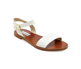 Steve Madden Donddi Flat Sandals in White at Macys