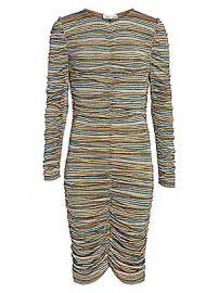 Stine Goya - Aida Blake Metallic Stripe Dress at Saks Fifth Avenue