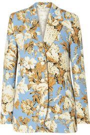 Stine Goya - Florence floral-print cady blazer at Net A Porter