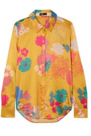 Stine Goya - Maxwell floral-print silk-blend charmeuse shirt at Net A Porter