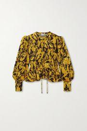 Stine Goya - Ren printed jacquard blouse at Net A Porter
