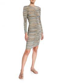 Stine Goya Blake Shirred Stripe Dress at Neiman Marcus