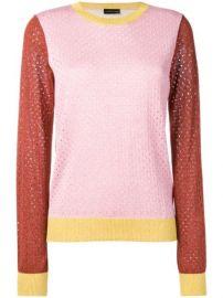 Stine Goya Perforated colour-block Sweater - Farfetch at Farfetch