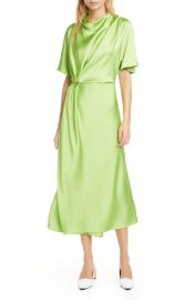 Stine Goya Rhode Drape Midi Dress   Nordstrom at Nordstrom