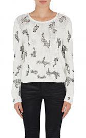 Stitch-Inset Cashmere Sweater Saint Laurent at Barneys
