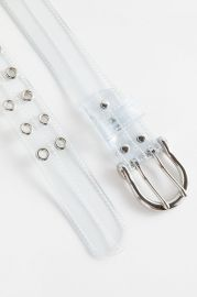 Stitched Clear Grommet Belt by Urban Outfitters at Urban Outfitters