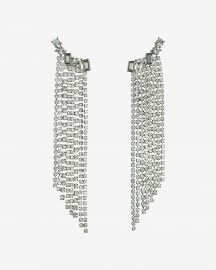 Stone Crawl Rhinestone Fringe Drop Earrings at Express