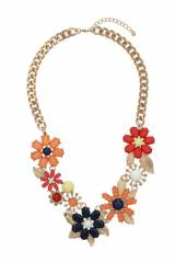 Stone Flower Collar Necklace at Topshop