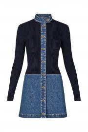 Stonewashed Denim Bi-Material Dress by Louis Vuitton at Louis Vuitton