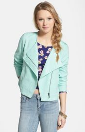 Stoosh Textured Moto Jacket at Nordstrom
