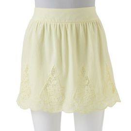 Stooshy crochet trim skirt at Kohls