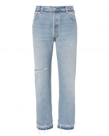 Stove Pipe Released Hem Jeans by Re Done at Intermix