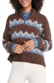 Stowe Fair Isle Half Zip Sweater by Madewell at Nordstrom
