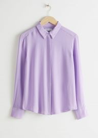 Straight Fit Silk Shirt at & Other Stories