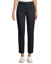Straight Leg Windowpane Pants by Theory at Neiman Marcus