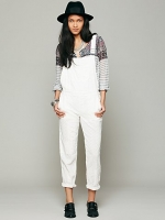 Straight eyelet overalls by Free People at Free People