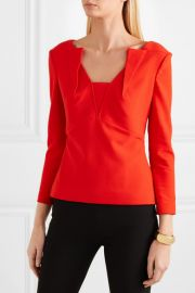 Strand crepe top at Net A Porter