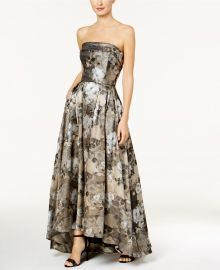 Strapless Brocade Ballgown at Macys