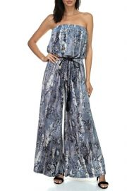 Strapless Jumpsuit with Rope Belt by Ariella USA at Shoptiques