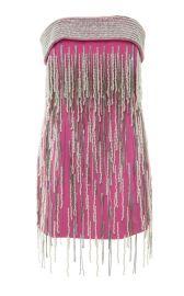 Strapless Pearl Embellished Mini Dress by Attico at Moda Operandi