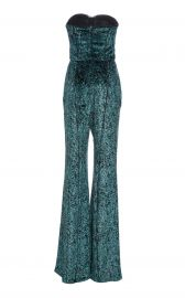 Strapless Printed Velvet Jumpsuit by J. Mendel at Moda Operandi