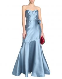 Strapless Side-Bow Gown by Badgley Mischka at Yoox