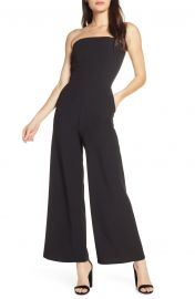 Strapless Wide Leg Jumpsuit at Nordstrom