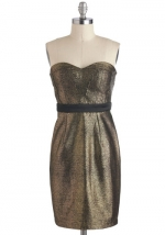 Strapless glittery dress at Modcloth at Modcloth