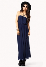 Strapless maxi dress at Forever 21