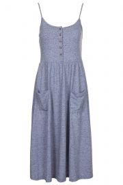 Strappy Button Midi Dress at Topshop