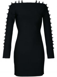 Strappy Sleeves Mini Dress by David Koma at Farfetch