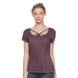 Strappy cutout tee at Kohls