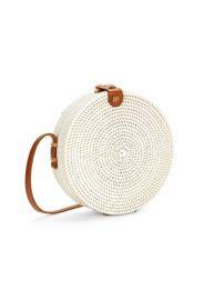 Straw & Leather Circle Bag at Lord & Taylor