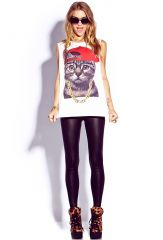 Street Style Kitty Tee at Forever 21