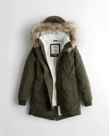 Stretch Cozy Lined Parka by Hollister at Hollister Co