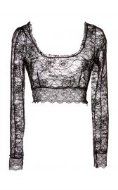 Stretch Lace Crop Top at Moda Operandi