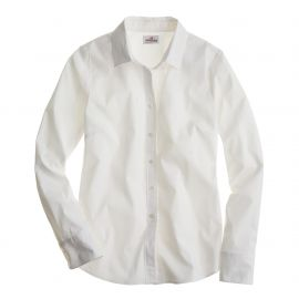 Stretch Perfect Shirt White at J. Crew
