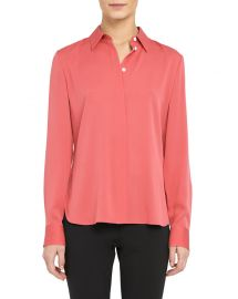 Stretch Silk Classic Fitted Shirt at Neimanmarcus