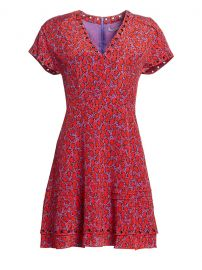 Stretch-Silk Printed V-Neck Dress by Derek Lam at Saks Off 5th