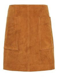 Stretch-Suede Mini Skirt by Banana Republic at Banana Republic