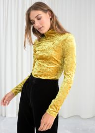 Stretch Velour Turtleneck at & Other Stories