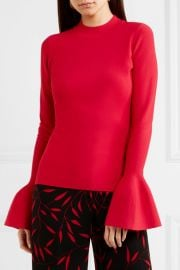 Stretch-knit top at Net A Porter