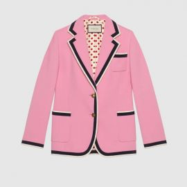Stretch viscose jacket at Gucci