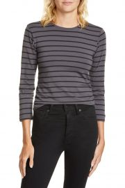 Stripe 3/4 Sleeve T-Shirt by ATM Anthony Thomas Melillo at Nordstrom Rack