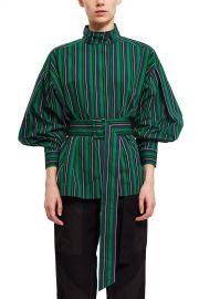 Stripe Belted Long Sleeve Top at Opening Ceremony