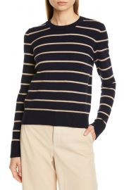 Stripe Cashmere Crewneck Sweater at Nordstrom