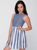 Stripe Chambray Sun Dress at American Apparel