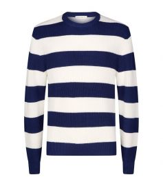 Stripe Crew Neck Sweater by Sandro at Harrods