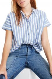 Stripe Crop Button-Up Shirt by Madewell at Nordstrom