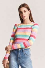 Stripe Crop Top at Forever 21